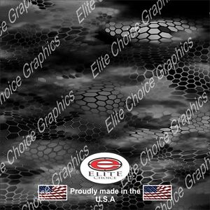 Chameleon Hex Black Camo Decal Wrap Vinyl 52 X15 Truck Print Real Camouflage