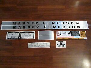 Gas Decal Set Sticker To Fit Massey Ferguson Deluxe 135