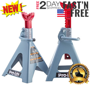 6 Ton Double Locking Pin Jack Stands Steel Heavy Duty Safe Durable Professional