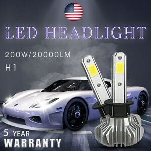 H1 Fanless 20000lm Led Headlight Bulb High Beam 6000k Foglight Conversion Kit 7u