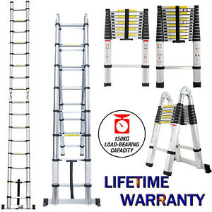 Multi purpose Aluminium Telescopic Ladder Extension Extendable Steps Builders Us