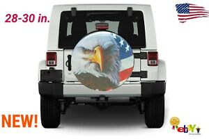 28 30 Inch Spare Tire Cover American Eagle Flag Suv Rv Fits Jeep Hummer 4 4