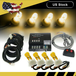 Hide A Way 80w 4 Amber Hid Bulbs Emergency Strobe Light Flash Warn Beacon Light