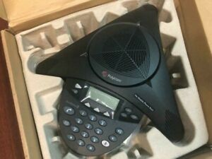 New Polycom Soundstation 2 2200 16200 001 Full Duplex Conference Phone Gt
