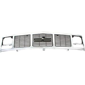 Grille For 88 99 Gmc K1500 C1500 Silver Plastic