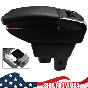 Rotatable Storage Box Armrest Center Console For Honda Fit Jazz 2009 2013 12 11