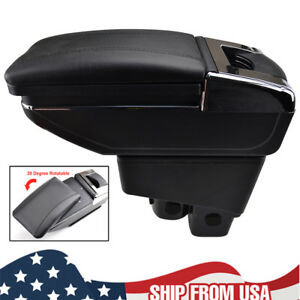 Rotatable Armrest Center Console For Honda Fit Jazz 2002 08 Arm Rest Cup Holder