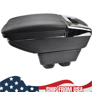 For Nissan Versa 2007 11 Armrest Center Console Storage Box Arm Rest Cup Holder