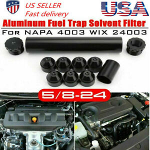 5 8 24 Napa 4003 Wix 24003 Car Fuel Filter 1x6 Aluminum Only For Car Used Black