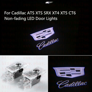 Non fading Cadillac Led Projector Lights Hd Logo Accessory Car Door Lamp Series