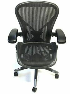 Herman Miller Fully loaded Size B Posturefit oem Leather Arm Pads Aeron Chair