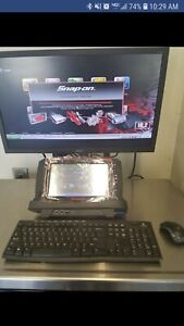 Snap On Verus Pro D10 W Rolling Cart Diagnostic Scanner 16 2 W Monitor