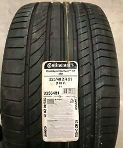 2 New Tires 325 40 21 Continental Contisportcontact5p 113y P325 40zr21 Oldstock