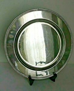 Vintage Int L Barbour 6310 Silver Plate 14 Round Serving Platter Guvc