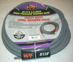 Kt Industries 6 7130 3 8 X 50 High Pressure Washer Hose Quick Connects 4000 Psi