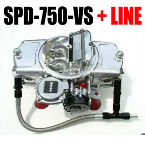 Speed Demon Spd 750 Vs 750 Cfm Gas Aluminum Vacuum Choke 6 Fuel Line Kit