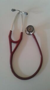 3m Littmann Cardiology Iii Stethoscope Red Tube Cleaned Good Condition
