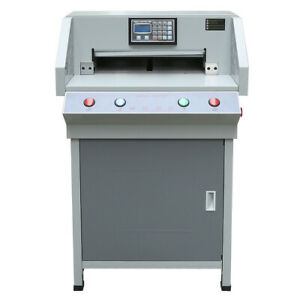 490mm Automatic Programmable 19 3 Electric Paper Cutter Cutting Machine Us Plug