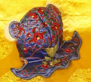 Old Tribal Exotic Chinese Ethnic Miao People S Hand Embroidery Child Hat