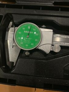 6 Mitutoyo Dial Caliper W green Face 0 6 Stainless