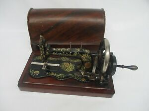 Antique 1895 Singer 12 K Sewing Machine Ottoman Decal Nr 13108318