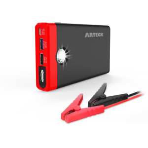 Arteck Car Jump Start Up To 4 0l Auto Battery Charger And 12000mah 2 Usb Output