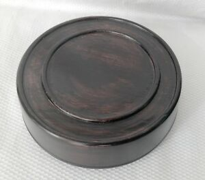 4 5 Brown Chinese Oriental Solid Wooden Lid Cap Cover For Ginger Jar And Vases