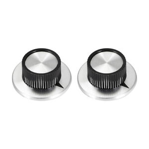 2pcs 6mm Potentiometer Control Knobs For Guitar Volume Tone Knobs Silver Tone