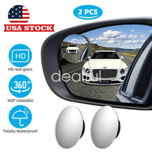 2 Pcs Blind Spot Mirror 360wide Angle Convex Rear Side View Car Auto Universal