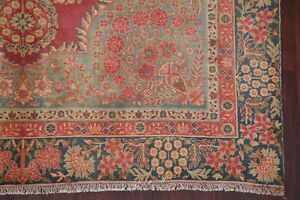 Vintage Floral Ruby Red Kirman Persian Area Rug Oriental Hand Knotted Wool 6 X9