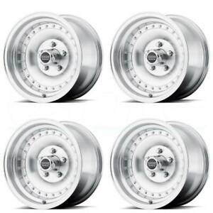 15x8 American Racing Ar61 Outlaw I 5x114 3 5x4 5 19 Machine Wheels Rims Set 4