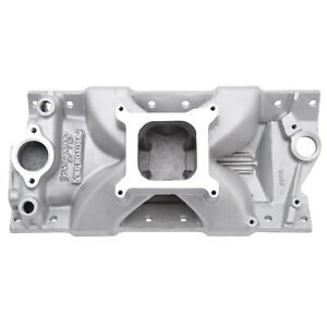 Edelbrock 2999 Intake Manifold Fits Small Block Chevy 262 400 Cid Racing Use