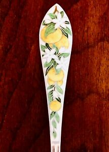Watson Sterling Silver Gilt Colored Enamel Grapefruit Spoon Oranges 2