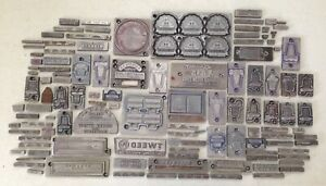 Lot Of 111 Antique Vintage Ad Letter Press Printing Plate Cut Stamp Block