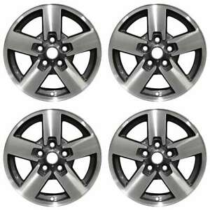 Jeep Commander 2006 2008 17 Factory Oem Wheels Rims Set Machined With Charcoal