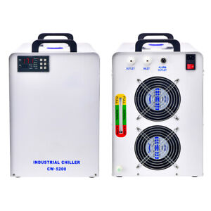 Cw 5200 Industrial Water Chiller For Co2 Laser Tube 110v 1650w Refrigeration