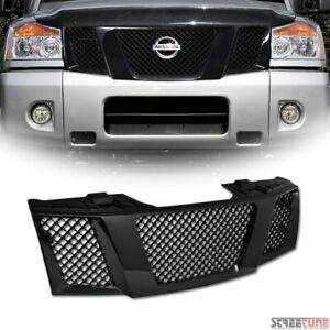 For 04 Nissan Titan Armada Blk Bentley Mesh Front Grill Grille Kit Replacement