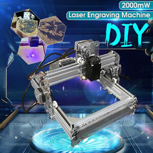 New Desktop Laser Engraving Machine Diy Marking Printer Engraver Cutting 2000mw