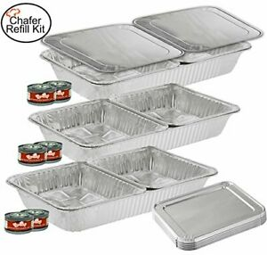 Tigerchef Tc 20520 Chafer Pans Set Includes 3 Full Size Aluminum Steam Table Pa