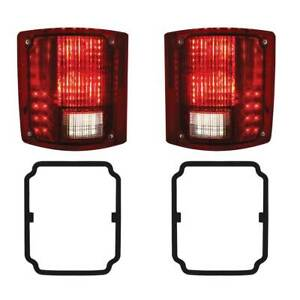 2 1973 87 Chevy Gmc Truck Led Sequential Tail Lights W O Trim W Gaskets Pair