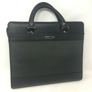 Day Runner Berlin Refillable Planner Briefcase Attache Leather Handle Black 1091