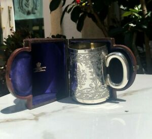 Victorian Silver Christening Mug Goldsmiths Alliance London 1882 159 G Og Case