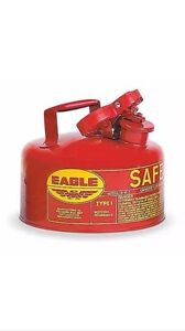 Eagle Ui 10 s Red Galvanized Steel Type I Gas Safety Can 1 Gallon Capacity