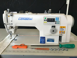 Consew 7360r 7dd Sewing Machine single Needle undertrimmer direct Drive 110v