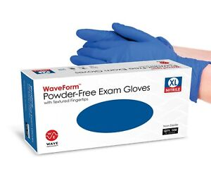 2000 Disposable Nitrile Exam Gloves Powder Free Strong Non Latex Non Vinyl