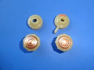 1942 1946 1947 1948 Chevrolet Radio Knob Set 4 Pcs Ivory With Copper Center New