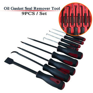 9x Car Oil Gasket Seal Hook Remover Tool Ring Screwdriver Puller Disassembly