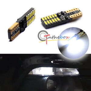 2pcs T10 194 Xenon White Led Bulbs Parking Lights For 2015 Up Ford Mustang