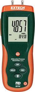 Extech Hd750 Differential Pressure Manometer 5psi
