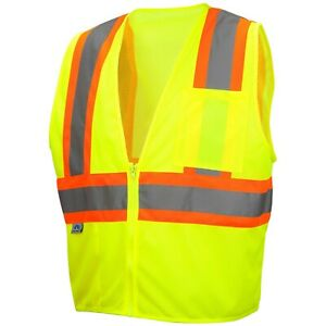 Pyramex Rvz2210 Type R Class 2 Mesh Two tone Safety Vest Yellow lime M 5xl